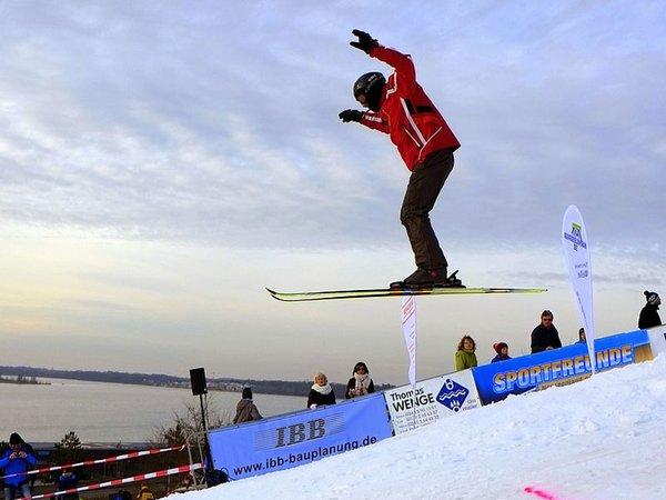 Skisprung- und Snowboard-Event am Markkleeberger See