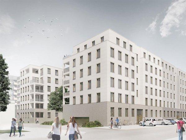 LWB Neubauvorhaben Bernhard-Göring-Straße, Visualisierung: Peter Zirkel GvA, Dresden