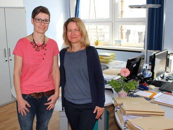 Sozialarbeiterinnen der WG Lipsia eG Isabell Bergmann und Karin Bauer (v.l.n.r.)