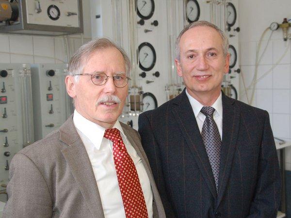 Prof. Manfred Kilchert und Prof. Said Al-Akel