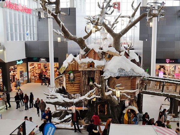 Der Wichtelbaum ist wie jedes Jahr ein besonderes Highlight, Foto: Paunsdorf Center