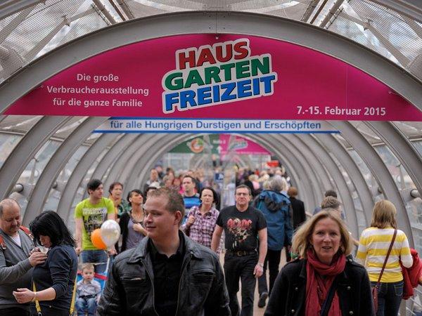 Der zweite Messetag der HAUS-GARTEN-FREIZEIT 2014 lockte viele Gäste in die Messehallen