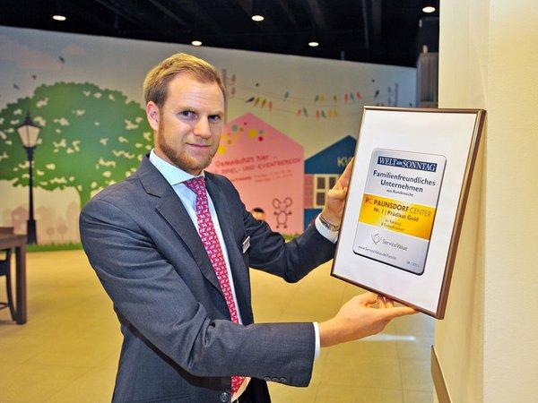 Tim Winnefeld: stellvertretender Centermanager des P.C. mit der Auszeichnung