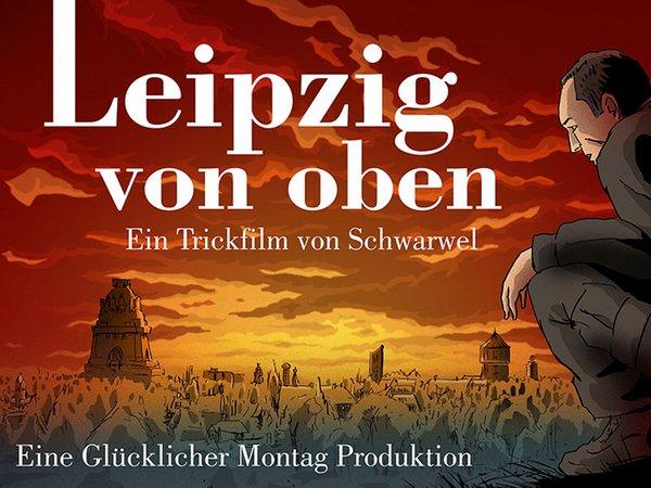 Trickfilm: Leipzig von oben