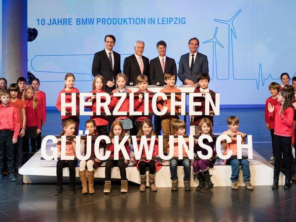 Festakt zu 10 Jahre BMW Produktion in Leipzig