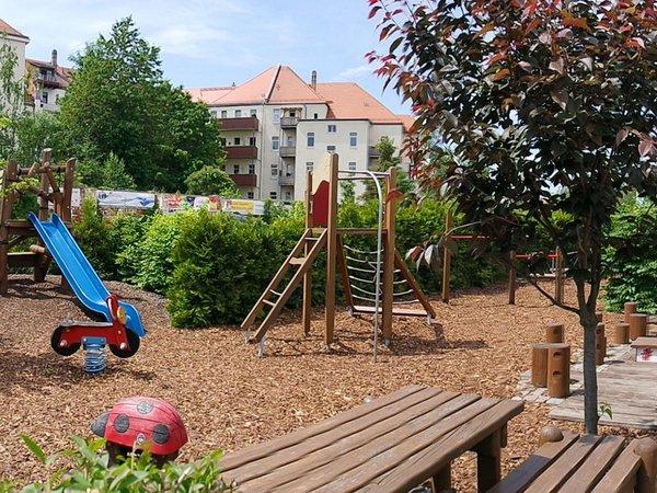 Außenanlage KinderBewegungsLand Springmäuschen, Foto: Print4Kids