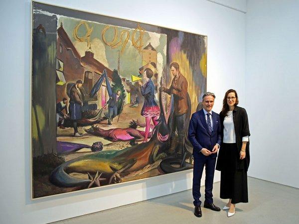 Steffen Hildebrand und Anka Ziefer präsentieren in der G2 Kunsthalle Werke von Neo Rauch, Foto: Isabell Gradinger