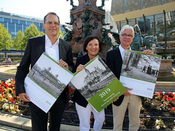 Präsentation des Historischen Kalender 2019 vor dem Mendebrunnen, Foto: Andreas Schmidt
