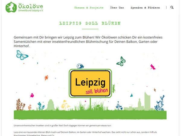 Internetseite der Ökolöwen: Leipzig soll Blühen