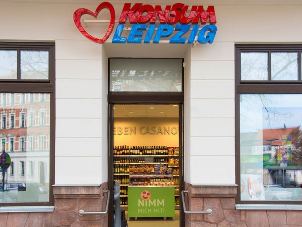 Konsum Neueröffnung in Leipzig-Stötteritz