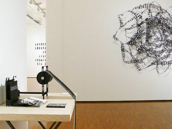 Ausstellung: Schrift – Choreografie der Zeichen, Foto: Kunsthalle der Sparkasse Leipzig
