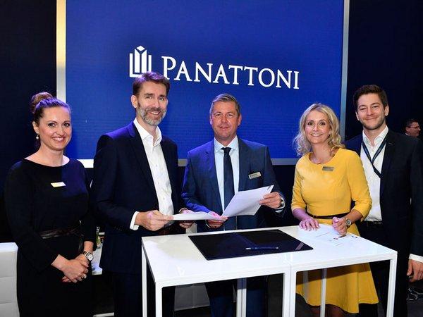 Susann Bikert-Müller (Panattoni), Michael Körner (Geschäftsführer Invest Region Leipzig GmbH), Stefan Bohn, Anja Moses, Lucas Imdahl (alle Panattoni), Foto: Panattoni