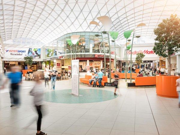 Der P.C. CENTER RUN führt durch alle vier Etagen der Parkhausspindel und die Shopping Mall, Foto: Paunsdorf Center