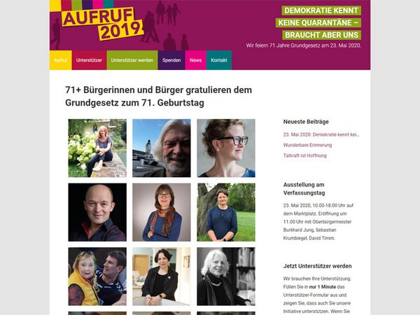 Internetseite der Leipziger Initiative: Aufruf 2019