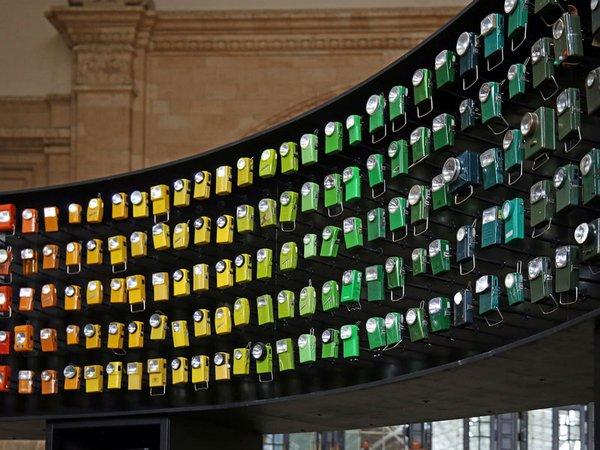 Licht-Ton-Installation Leipzig-Berlin, Foto: Andreas Schmidt