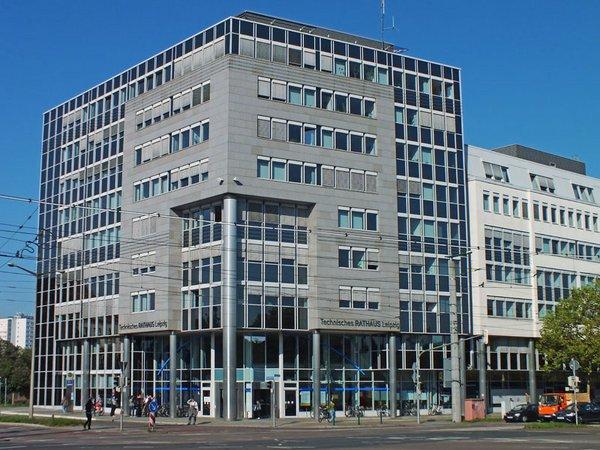 Technisches Rathaus von Leipzig in der Prager Straße