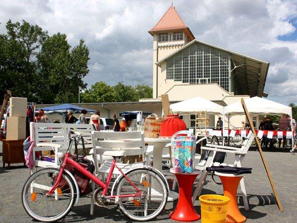 Antik, Trödel und Kreativmarkt auf dem Gelände der Galopprennbahn Scheibenholz, Foto: Scheibenholz