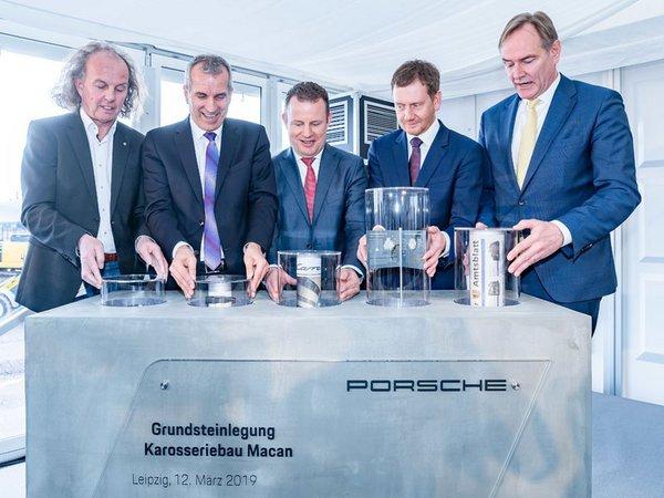 Porsche legt den Grundstein für weiteres Wachstum in Leipzig, Foto: Porsche AG