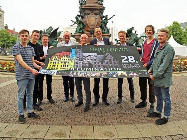 Organisatoren des 28. Leipziger Stadtfestes, Foto: Andreas Schmidt