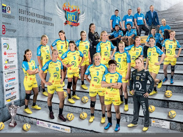 Handball-Club Leipzig (HCL) Team 2014/2015