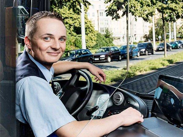Busfahrer bei den Leipziger Verkehrsbetrieben, Foto: Leipziger Gruppe