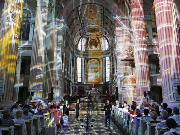 Nikolaikirche: Eröffnung Lichtraum 1, Foto: Andreas Schmidt