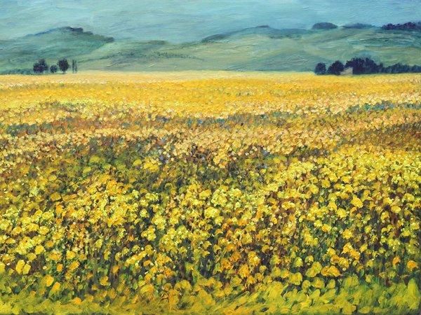 Joachim Zetzsche: Sommer in der Provence 2013-2017, Öl: 100x150