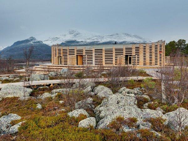 Besucherzentrum Naturum Laponia, Nationalpark Stora (Architekt: Wingårds), Foto: Jann Lipka
