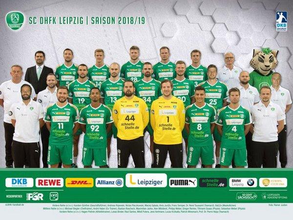 SC DHfK Leipzig Saison 2018/2019, Foto: Rainer Justen