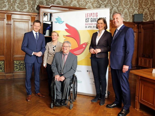 Michael Kretschmer, Veronika Petzold, Horst Wehner, Dr. Skadi Jennicke, und Christian Wulff, Foto: Nathalie Hempel