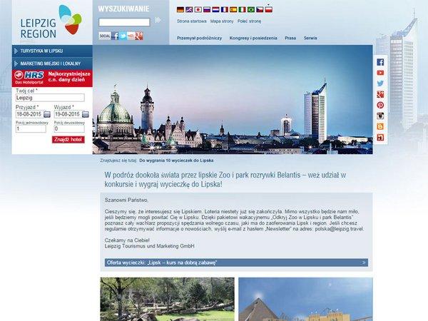Aufgelegte Website in polnischer Sprache
