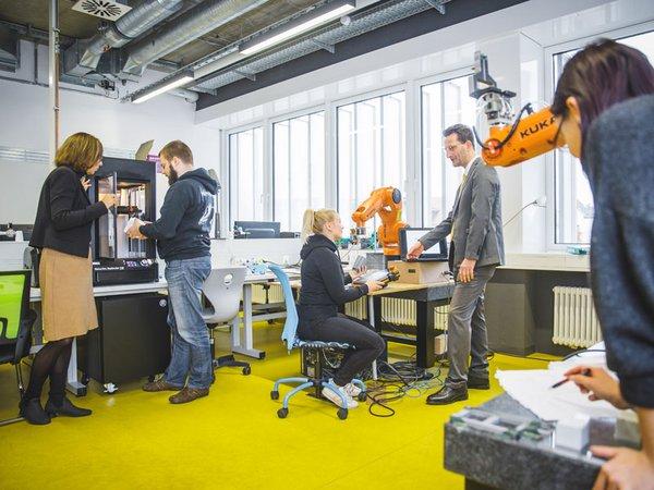 An der HTWK Leipzig wird künftig ein Querschnittsprofil Angewandte Digitalisierung aufgebaut, Foto: Stephan Flad / HTWK Leipzig