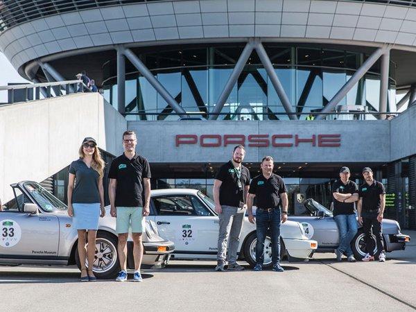 """Das Porsche-Team hat den zweiten Tag der """"Sachsen Classic"""" 2019 erfolgreich gemeistert, Foto: Porsche AG"""