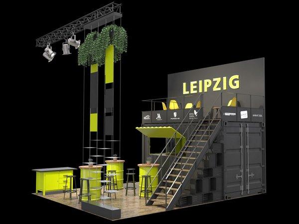 Leipzig-Stand auf der IMEX 2019, Grafik: event lab