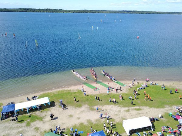 Drachenboot-Festival am Cospudener See, Foto: leipzigseen.de