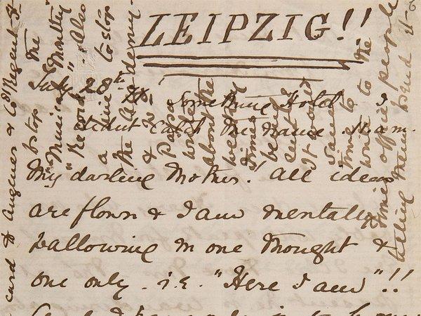 Digitalisat einer Briefseite von Ethel Smyth vom 28.7.1877, Foto: HMT Leipzig