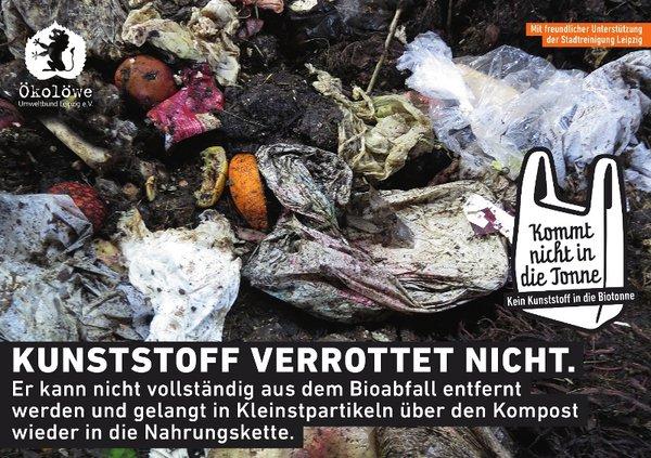 Aufkleber für die Biotonne in Leipzig