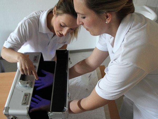 Händedesinfektion, Foto: Klinikum St. Georg