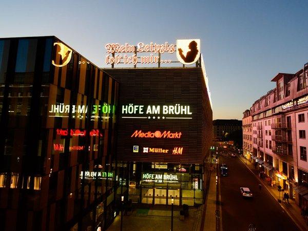 Leuchtreklame: Mein Leipzig lob ich mir, Foto: Höfe am Brühl