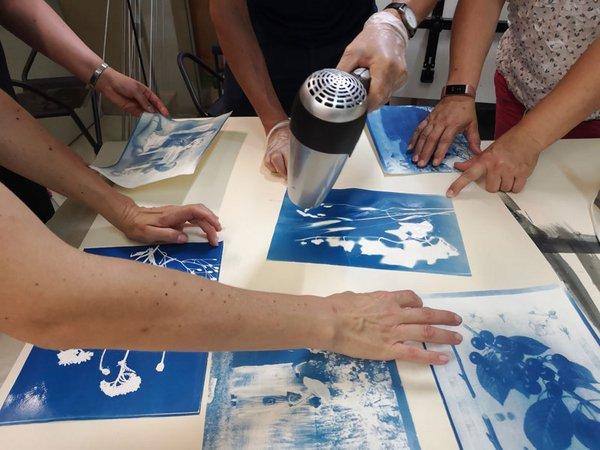 Cyanotypie-Workshop, Foto: SGM