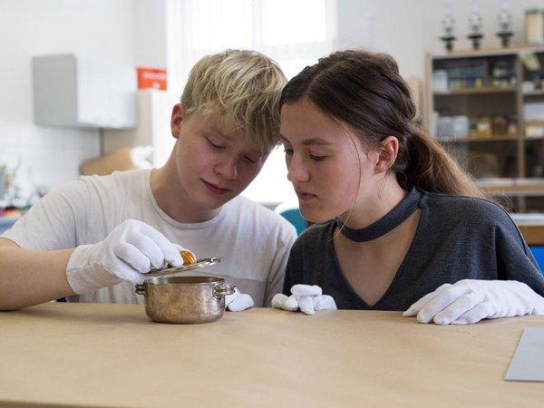 Mittelpunkt des Studiengangs Museologie steht die Auseinandersetzung mit den musealen Objekten wie beispielsweise dieser Zuckerdose, Foto: Lara Müller / HTWK Leipzig