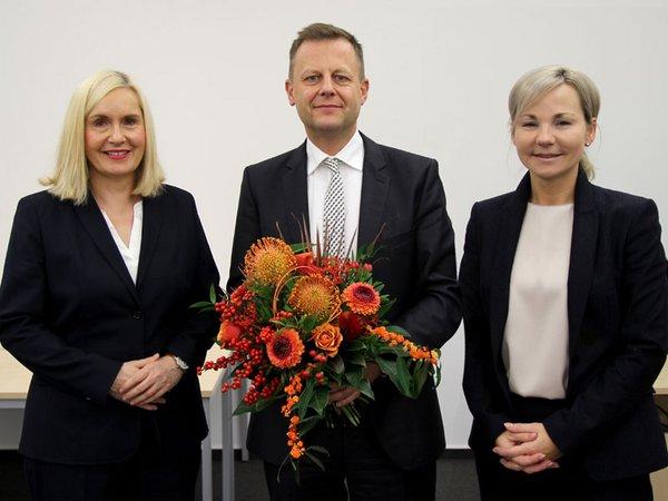 Dr. Iris Minde, Torsten Bonew und Claudia Pfefferle, Foto: Klinikum St. Georg