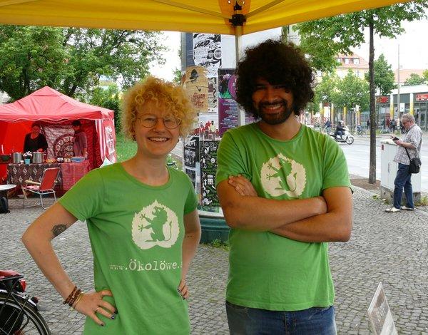 Bundesfreiwilligendienst beim Ökolöwen - Tiffany Bals und Gilles-Jean Louis