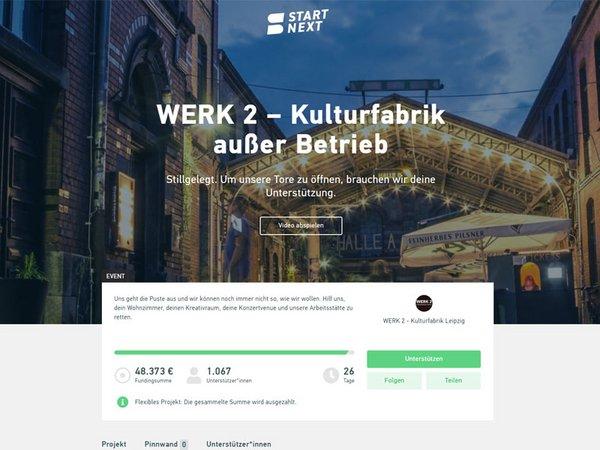 Crowdfundingkampagne: WERK 2 - ausser Betrieb
