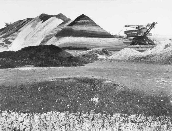 Tagebau Cospuden 1985, Barytabzug, Vintag Print, Marion Wenzel
