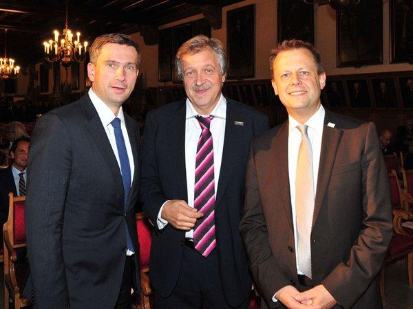 Martin Dulig, Dr. Mathias Reuschel und Torsten Bonew