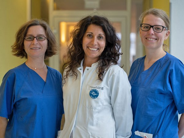 Stillberaterinnen: Berit Schulz, OÄ Dr. med. Nadja Uhlig und Lysann Redeker, Foto: Klinikum St. Georg