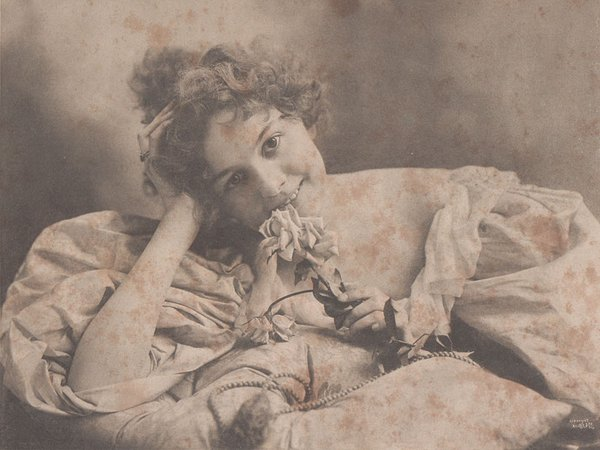 Joseph Knaffl, Mädchen mit Rose, Knoxville Tennessee, 1895