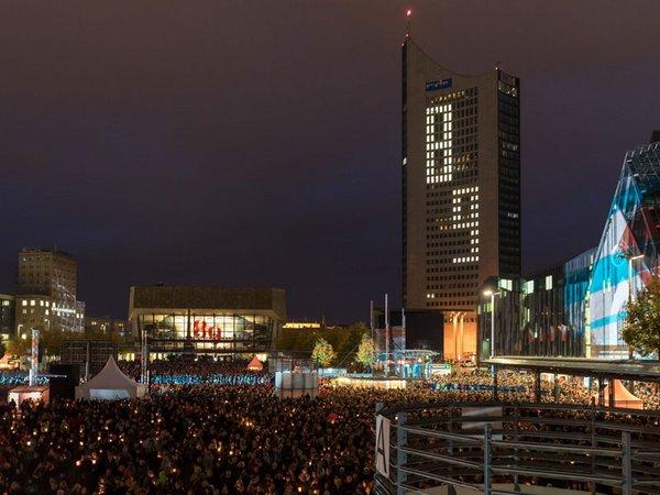 Lichtfest Leipzig 2019, Foto: Tom Schulze