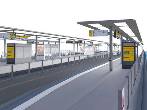 Visualisierung Renovierung Haltestelle Hauptbahnhof (Stand Juli 2019), Foto: Leipziger Gruppe